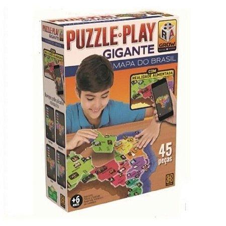 Quebra-Cabeça Puzzle Play Gigante - Mapa Do Brasil