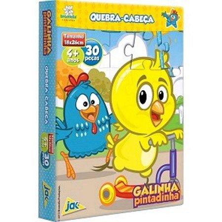 Quebra-Cabeça Galinha Pintadinha: Pintinho Amarelinho 30 Peças Jak