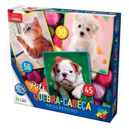 Quebra-cabeça Progressivo Pets - Pais e Filhos