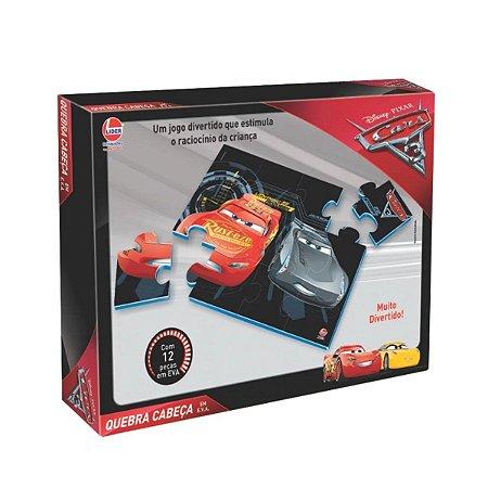 Quebra Cabeça 12 Peças Carros - Líder Brinquedos