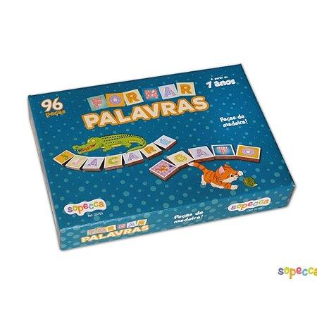 Jogo Educativo Em Madeira Formar Palavras