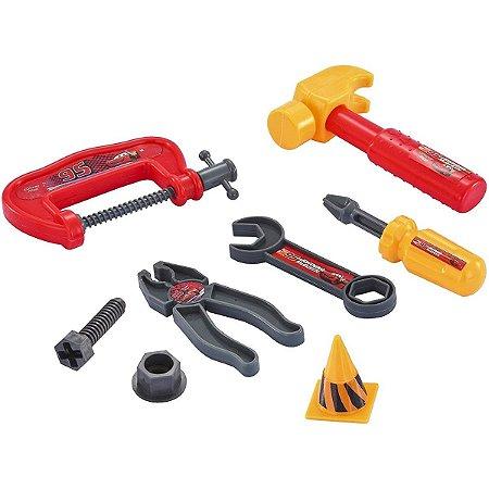 Kit Ferramentas de Brinquedo Carros 8 Peças Disney