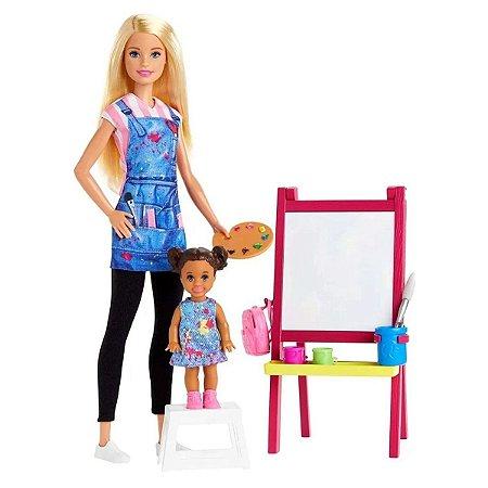 Barbie Profissoes Professora De Arte