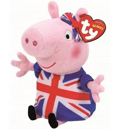 Peppa Pig Pelúcia P 20cm - Union Jack Peppa - DTC
