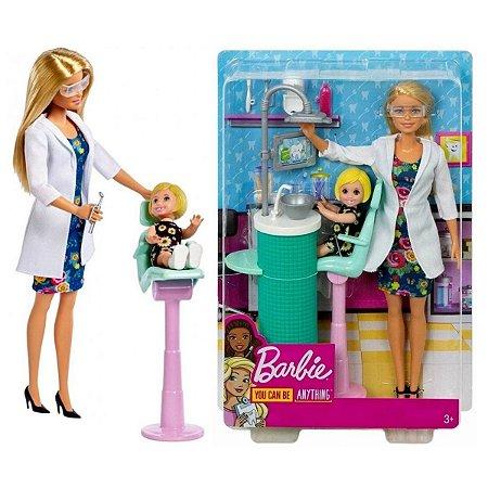 Boneca Barbie Dentista Com Acessórios