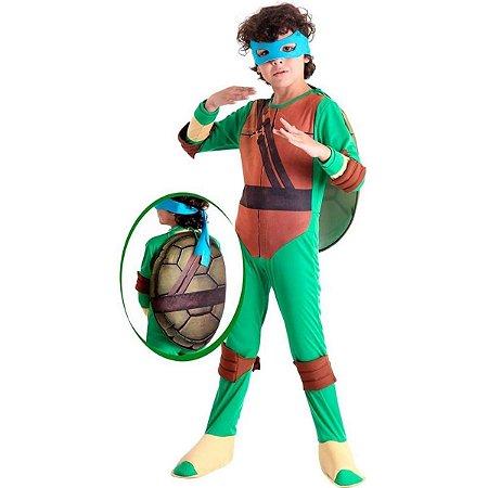 Fantasia Tartaruga Ninja Leonardo Luxo Longa