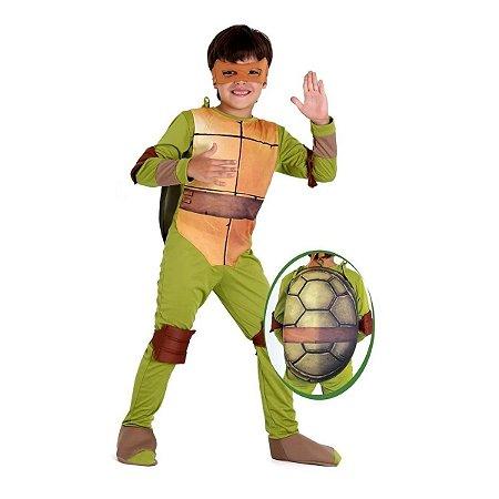 Fantasia Michelangelo Tartaruga Ninja Luxo M - Sulamericana