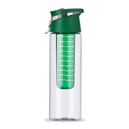 Squeeze Plástico 700ml com Infusor Verde