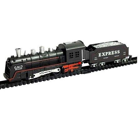 Pista Trem Locomotiva Com Som E Luz