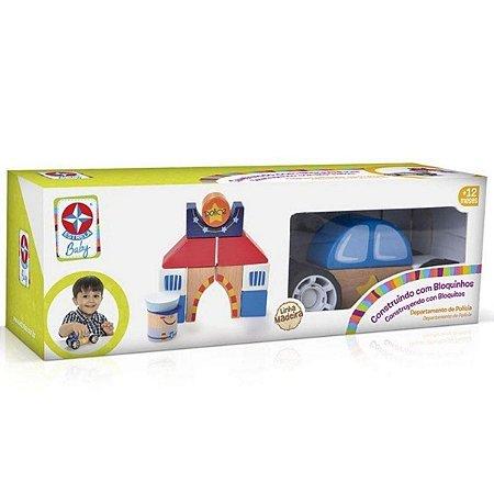 Brinquedo Construindo Com Bloquinhos Policia