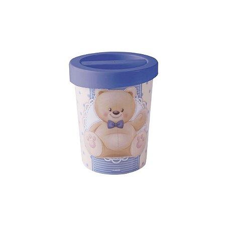 Porta Cotonetes de Plástico Urso