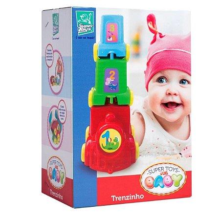 Brinquedo Educativo De Encaixar Baby Trenzinho