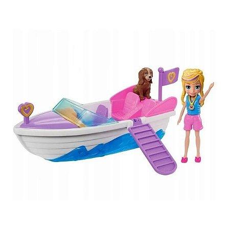 Boneca Polly Pocket Veiculo Aventura Em Lancha - Mattel