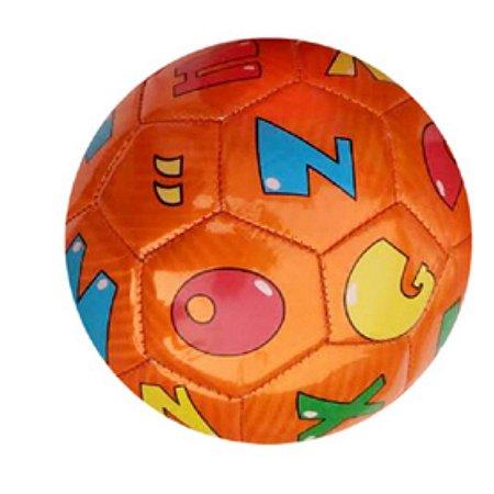 Mini Bola De Futebol Letras Laranja