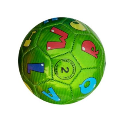 Mini Bola De Futebol Letras Verde