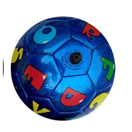 Mini Bola De Futebol Letras Azul