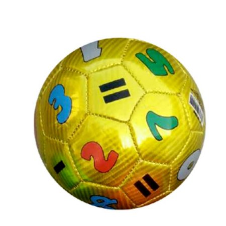 Mini Bola De Futebol Números Amarela