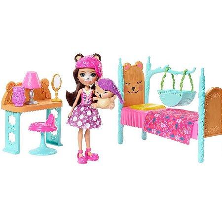 Boneca e Acessórios - Enchantimals - Quarto dos Sonhos - Mattel