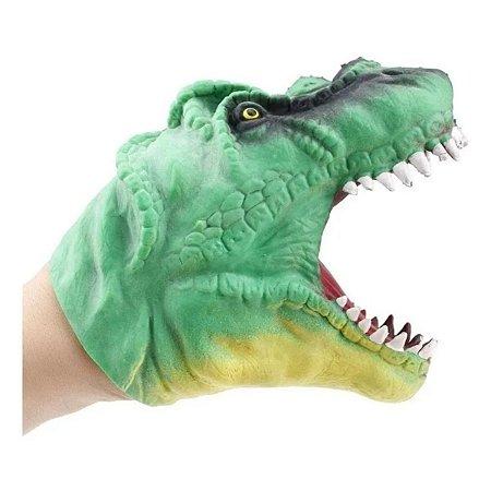 Fantoche De Mão Borracha Macia Tiranossauro Dinossauro T-rex