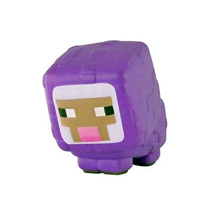 Miniatura Squishme Minecraft Purple Sheep