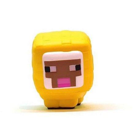 Miniatura Squishme Minecraft Ovelha Amarela
