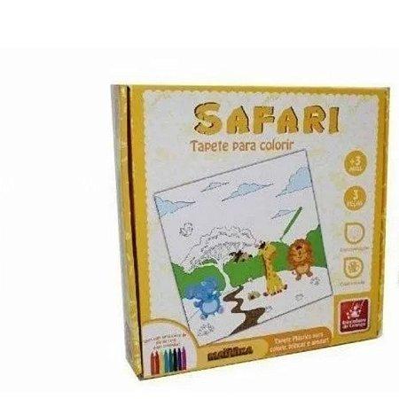 Brinquedo Pedagógico Tapete Para Colorir Safari