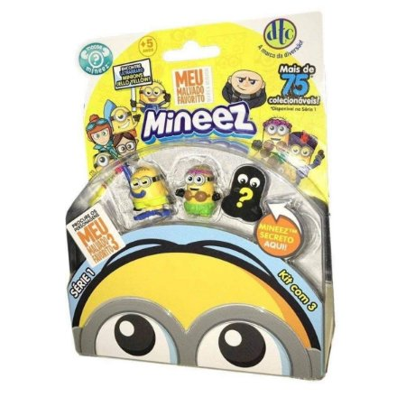 Mineez Kit Com 3 Miniaturas Sortidas Minions