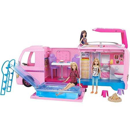 Trailer Dos Sonhos Barbie, Mattel, Rosa