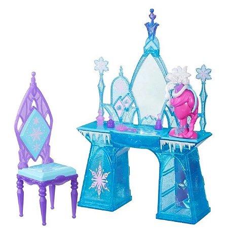Conjunto Disney Frozen - Cenário Luxo - Penteadeira Congelante - Hasbro
