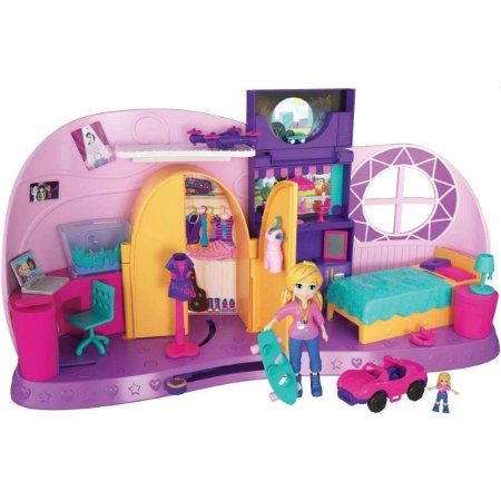 Polly Pocket Quarto Transformável Da Polly - Mattel