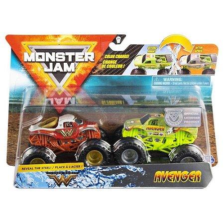 Monster Jam Truck Carrinhos Wonder X Avenger 1:64 Sunny 2020