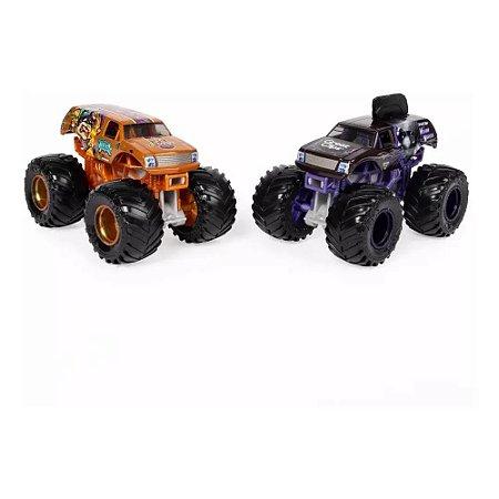 Monster Jam 1:64 com 2 Carros - Mohawk Warrior e Jester - Sunny