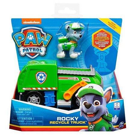 Patrulha Canina Veículo e Boneco Rocky Recycle Truck - Sunny