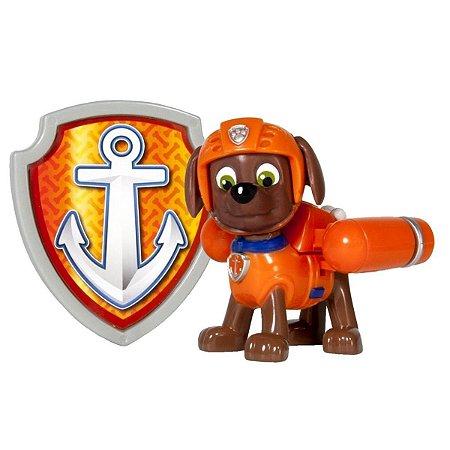 Patrulha Canina Figura Com Distintivo Zuma