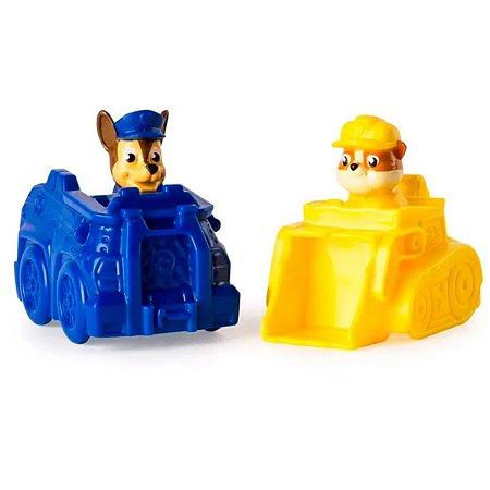 Patrulha Canina Mini Veículos Rubble E Chase