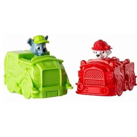 Patrulha Canina Mini Veículo Marshall E Rocky