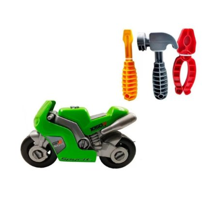 Moto Spyrit Com Ferramentas Brincar Mecânico - Usual