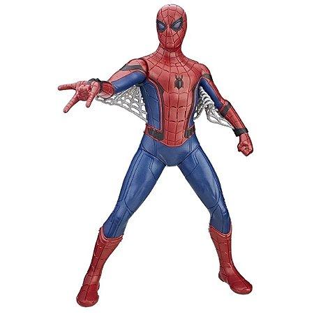 Boneco Spider Man Com Traje Hi-Tech