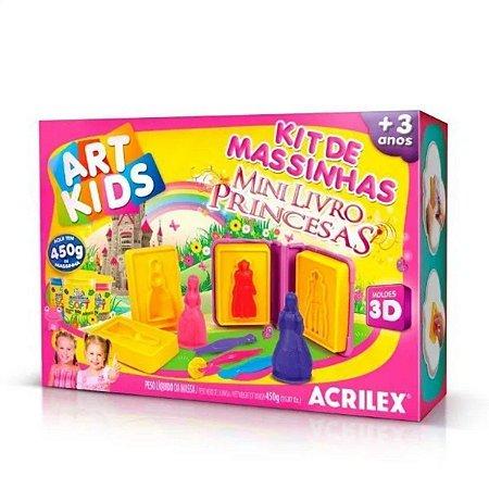 Kit De Massinhas Mini Livros Princesas 450g