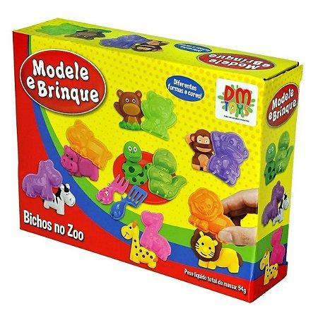 Massinha Modele E Brinque - Bichos No Zoo