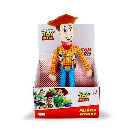 Pelúcia Woody Toy Story com Som 30cm - Multikids