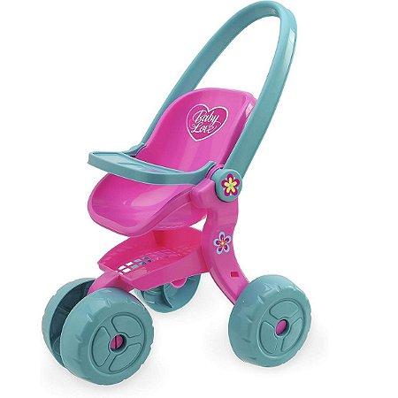 Carrinho De Boneca Baby Love - Usual Brinquedos