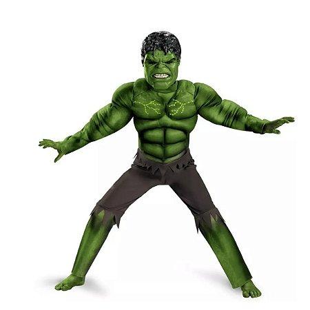 Fantasia Infantil O Incrível Hulk Com Músculo 7-8 anos