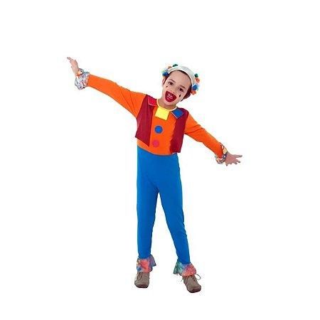 Fantasia Palhaço Colorido Infantil M