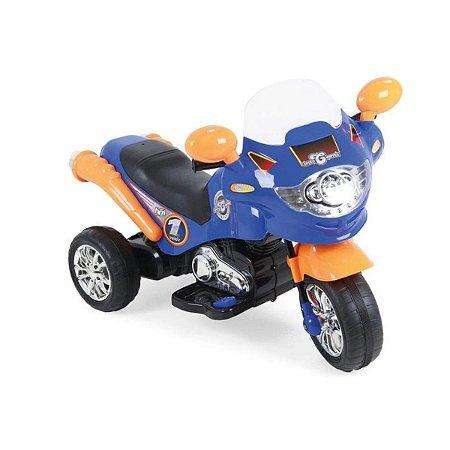 Moto Elétrica Speed Chopper 6V Azul