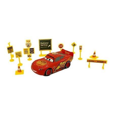 Relâmpago Mcqueen Com Acessórios Carros 3 Disney - Toyng