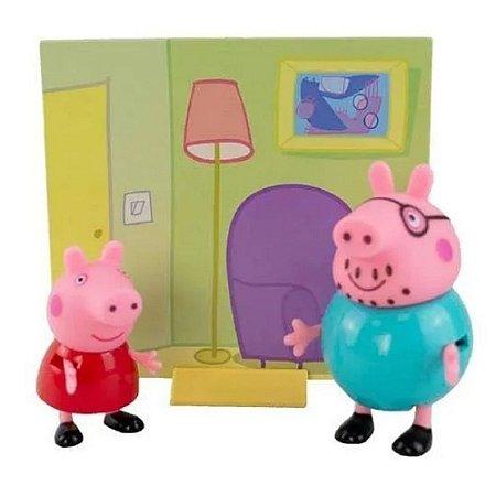Figuras da Peppa - Papai Pig e Peppa Pig 2300 - Sunny