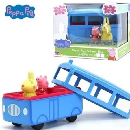 Veículo Ônibus Escolar Peppa Pig Com Som E Coelha Sunny