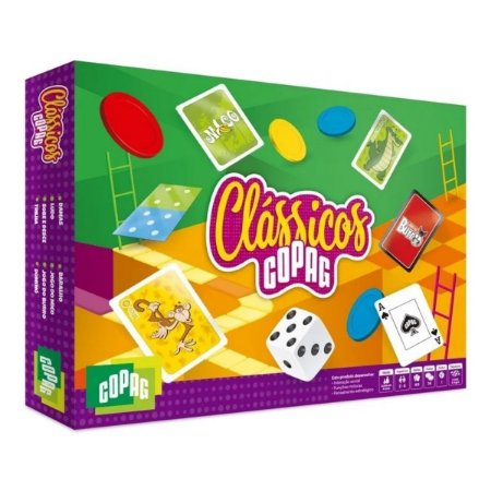 Jogo Clássicos Copag - Kit Com 8 Jogos Clássicos