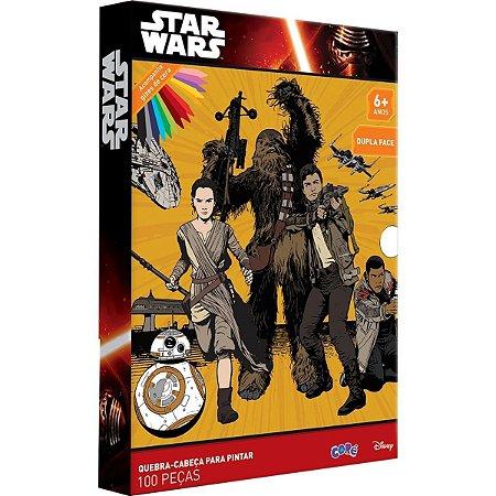 Quebra-cabeça Para Pintar Star Wars 100 Peças